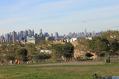Sunset PArk towards city